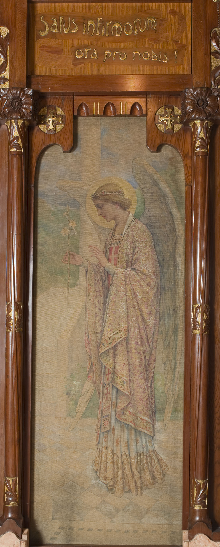 Joan Busquets - «Salus Infirmorum» pintura lateral de l'oratori Cendoya - 1905