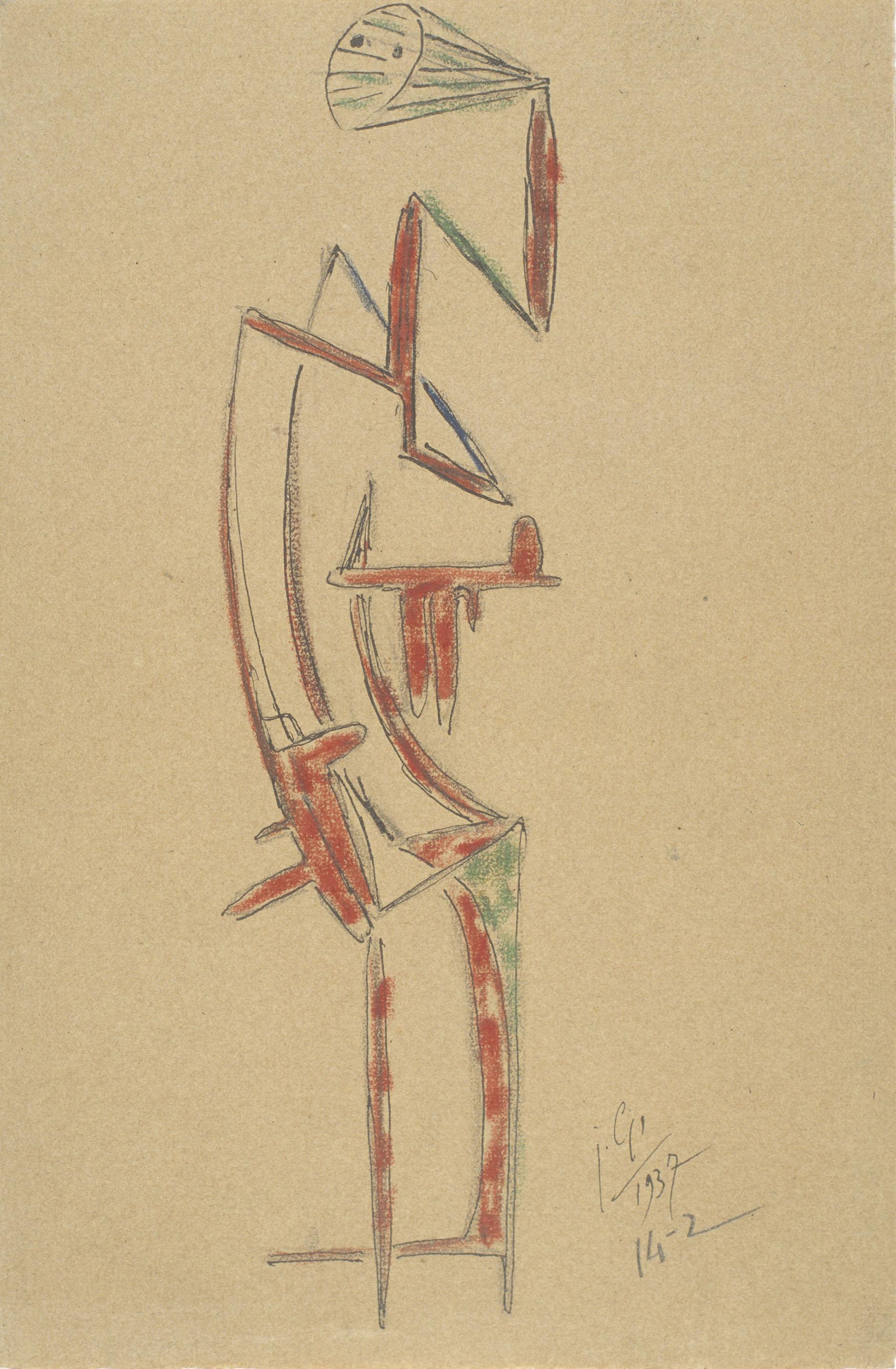 Juli González - Personatge entremaliat (Personnage mutin) - 1937