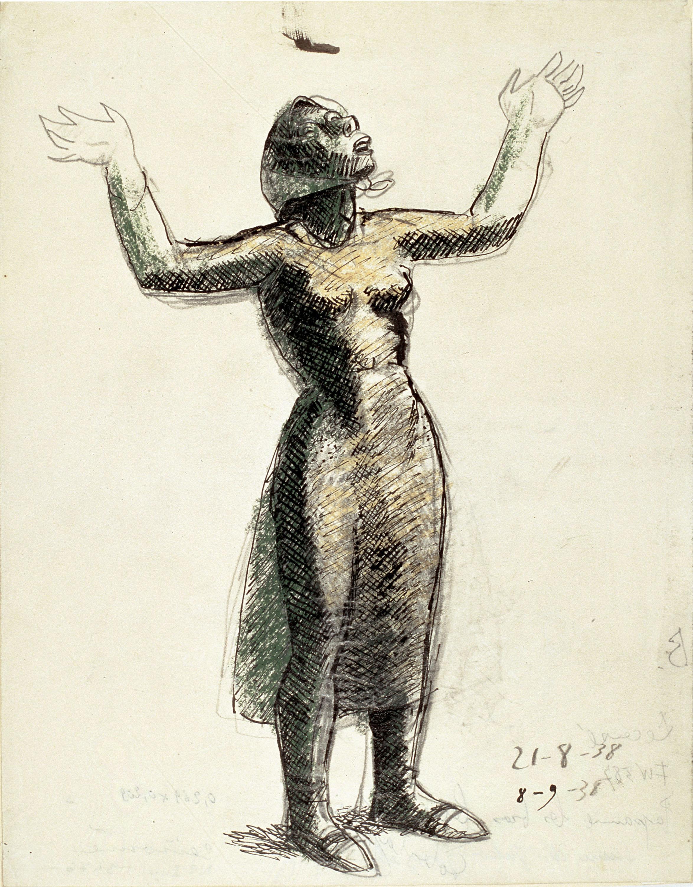 Juli González - Camperola amb els braços alçats (Paysanne les bras levés) - 1938