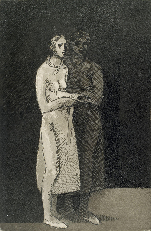 Juli González - Dues camperoles amb una aixada (Deux paysannes à la binette) - Cap a 1936