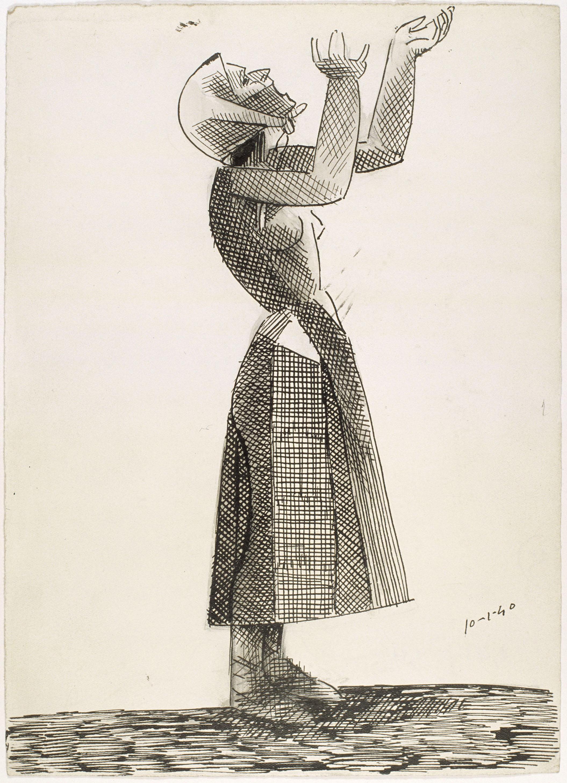 Juli González - Camperola amb els braços alcats (Paysanne les bras levées) - 18 de gener de 1940