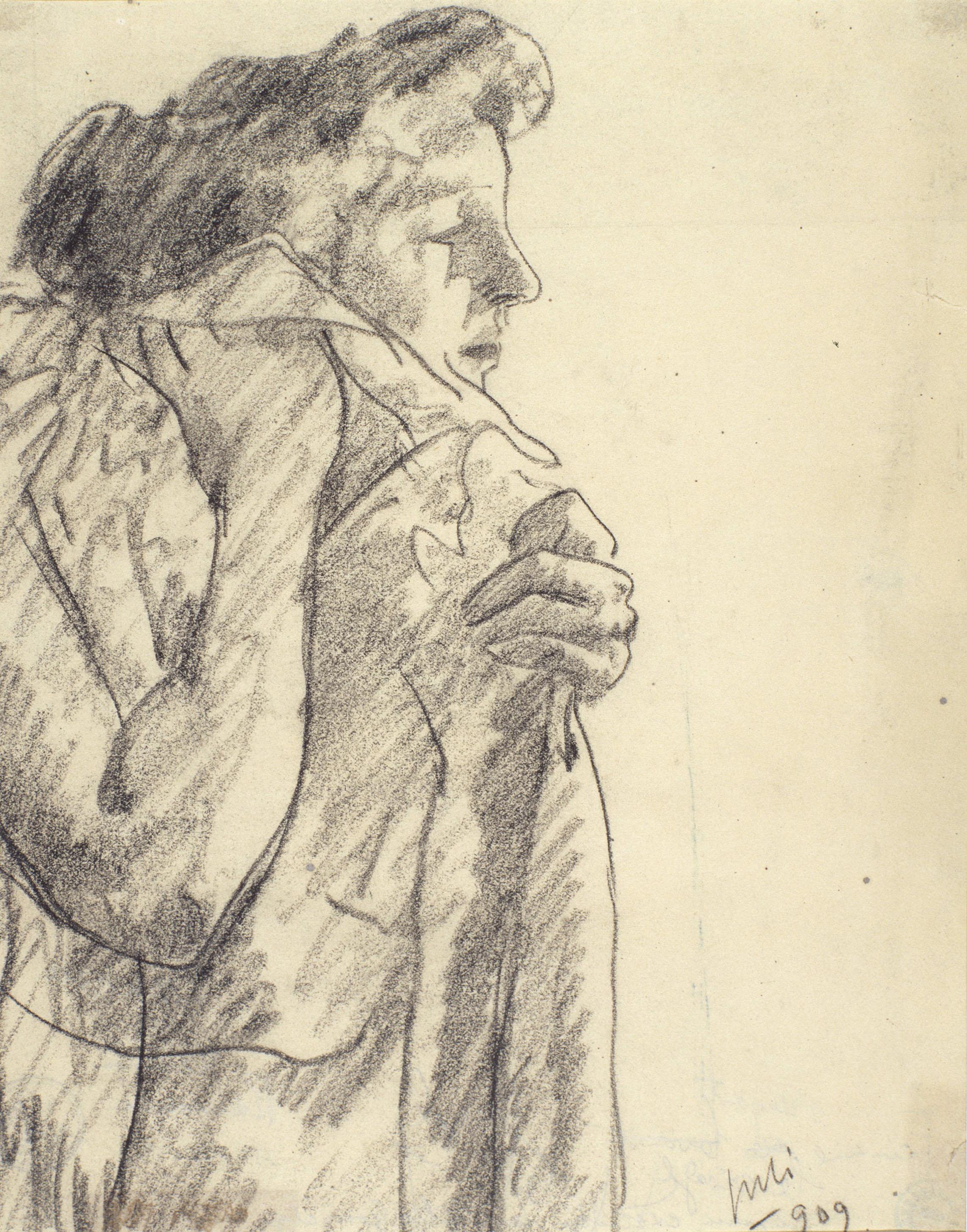 Juli González - Dona que es renta la cara (Femme se lavant le visage) - 1909
