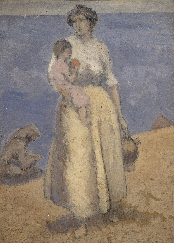 Juli González - Dona i nen davant del mar - Cap a 1910-1914
