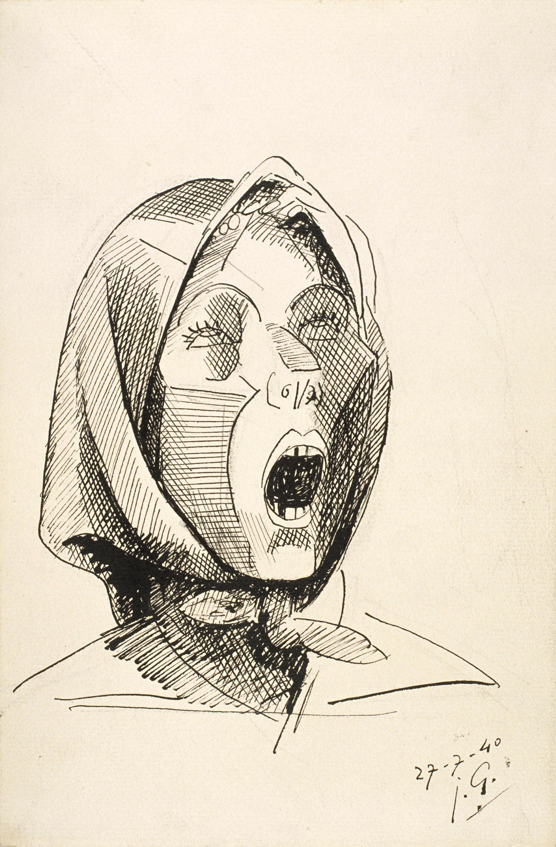 Juli González - Montserrat cridant, núm. 2 - 1940