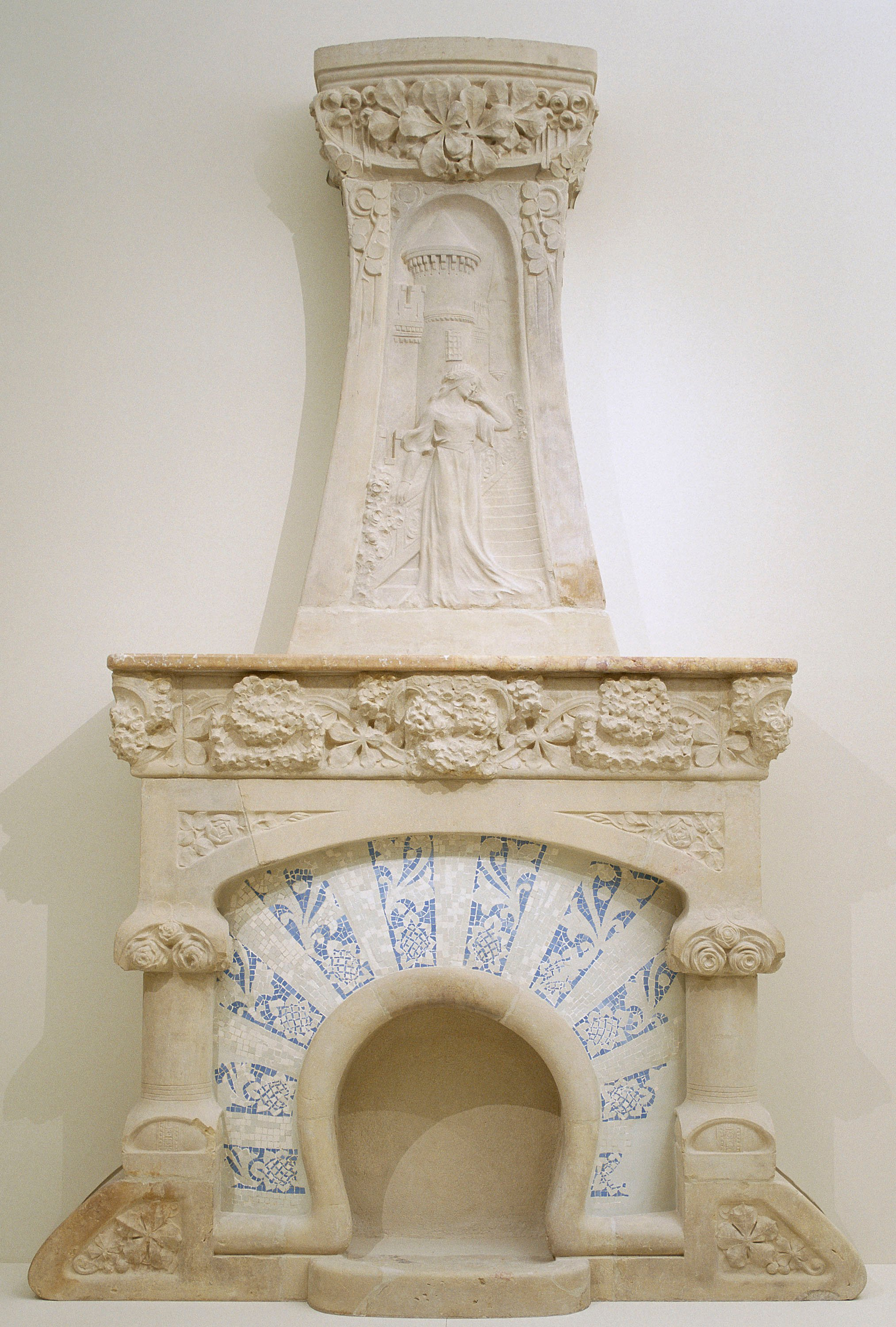 Lluís Domènech i Montaner - Fireplace with Sculptural Relief - Circa 1907