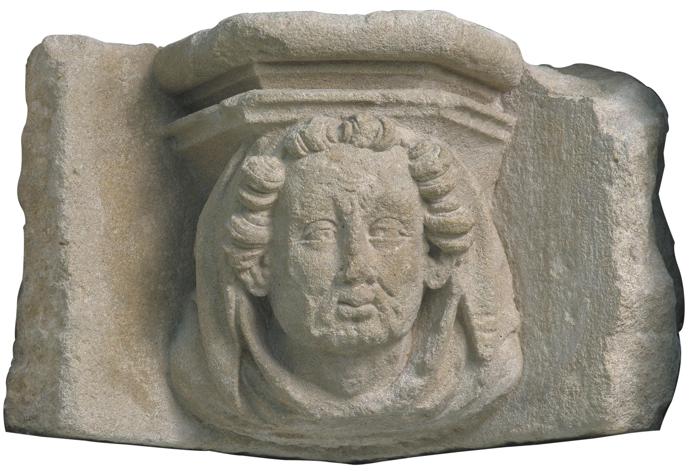 Marc Safont - Mènsula amb cap d'home - Cap a 1425