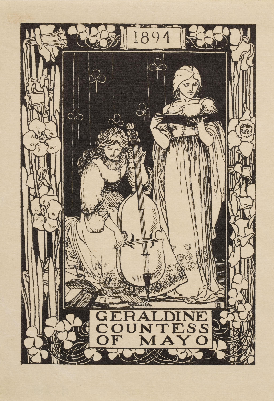 Robert Anning Bell - Ex-libris Geraldine Countess of Mayo - 1894