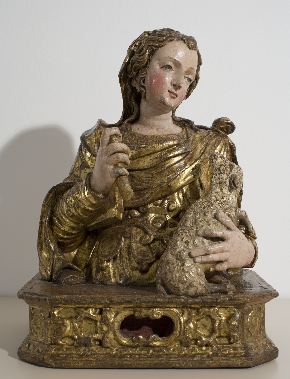 Mestre de Capillas - Reliquary bust of Saint Agnes - Between 1560-1580