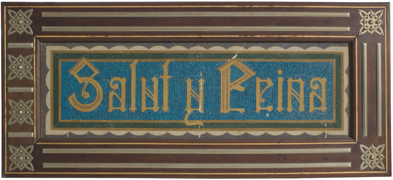 Frederic Vidal - Plafó amb la inscripció «Salut i Feina» - Cap a 1900
