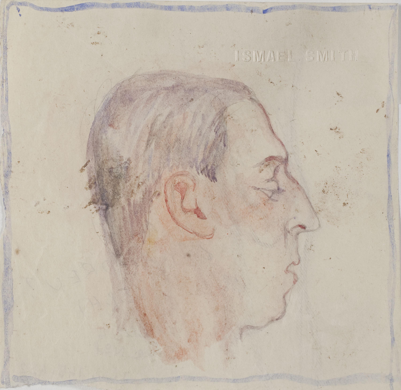 Ismael Smith - Retrat de Marià Andreu [?] (anvers) / Fragment de cama (revers) - Cap a 1911