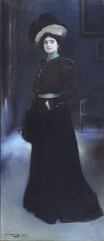 Ramon Casas - Retrato de Isabel Llorach - 1901
