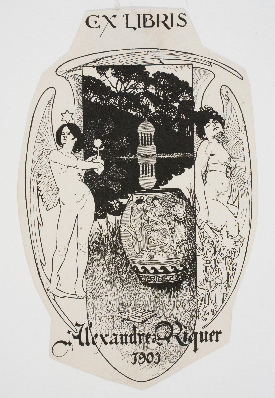Alexandre de Riquer - Ex-libris Alexandre de Riquer - 1901
