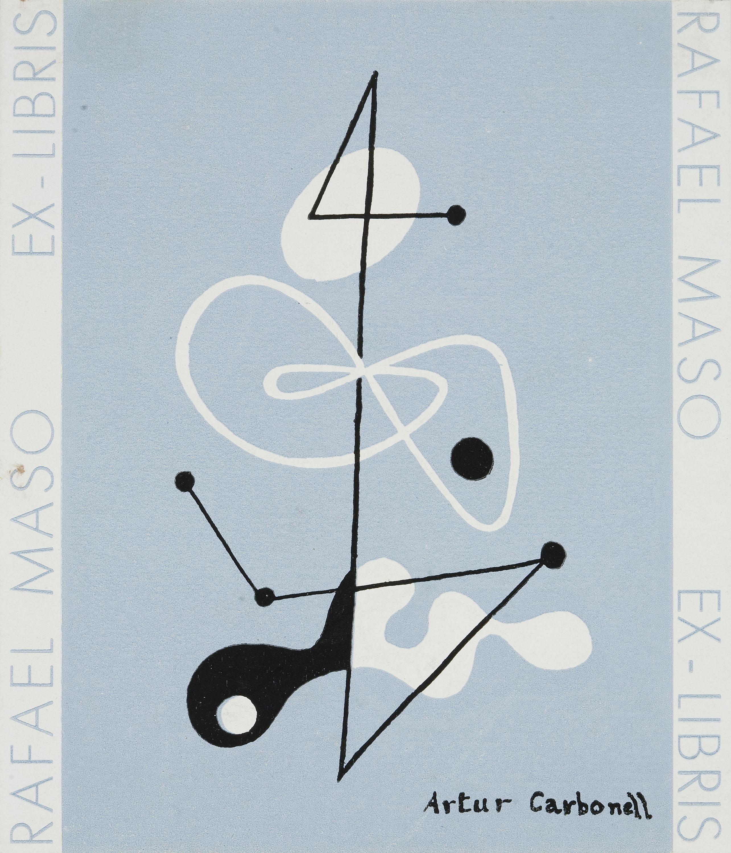 Artur Carbonell Carbonell - Rafael Masó book-plate - Circa 1933