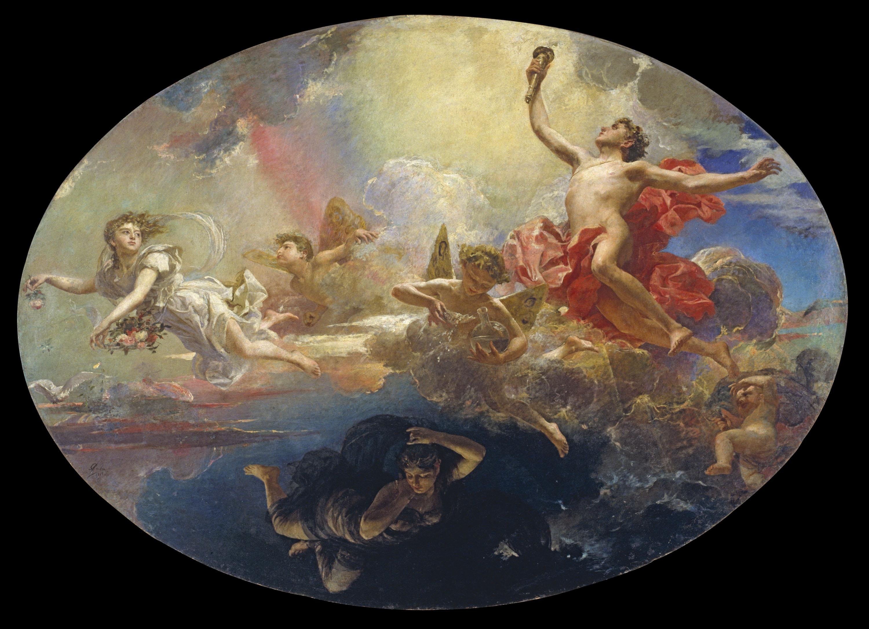 Antoni Caba - El triomf del Dia sobre la Nit precedit de l'Aurora - 1882