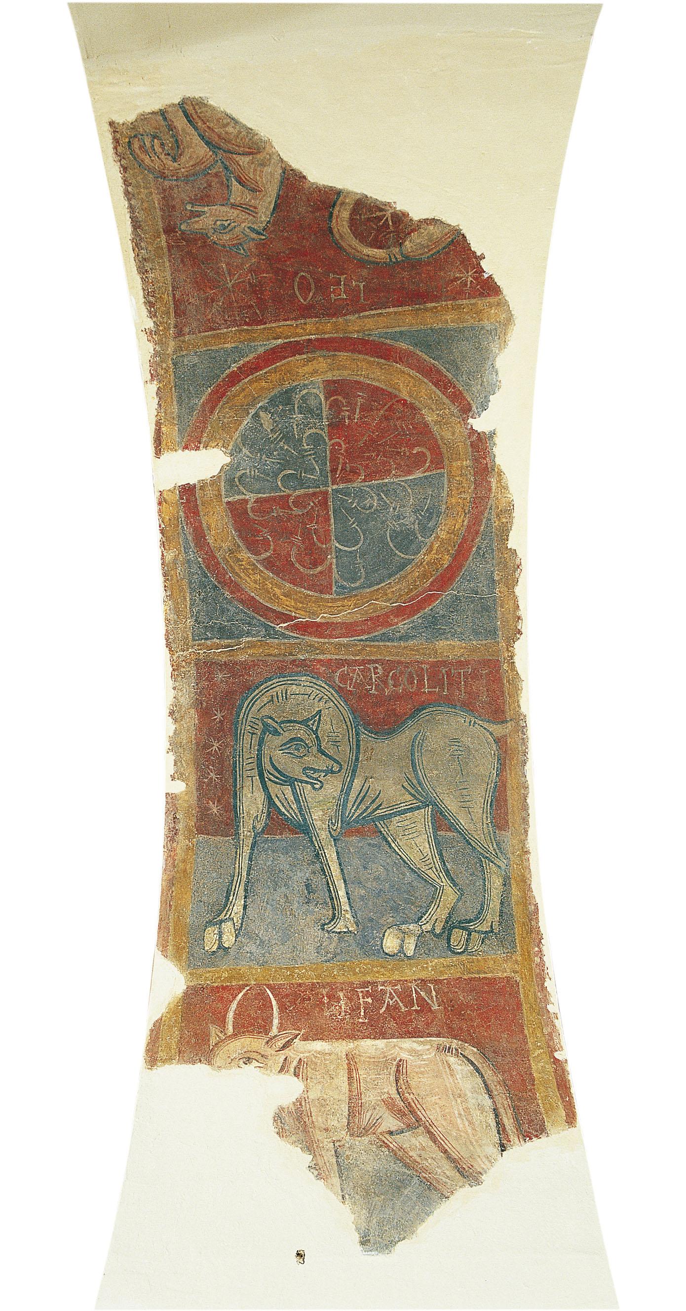 Mestre de Boí - CARCOLITI, elefant i lleó de Boí - Cap a 1100 [1]