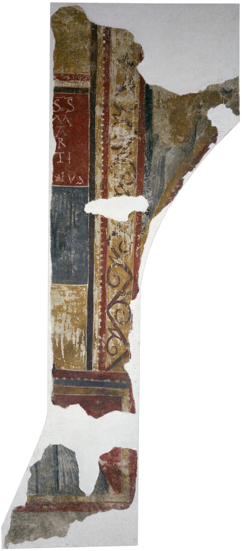 Mestre de Boí - Inscripció S(ANCTV)S MARTINVS de Sant Joan de Boí - Cap a 1100