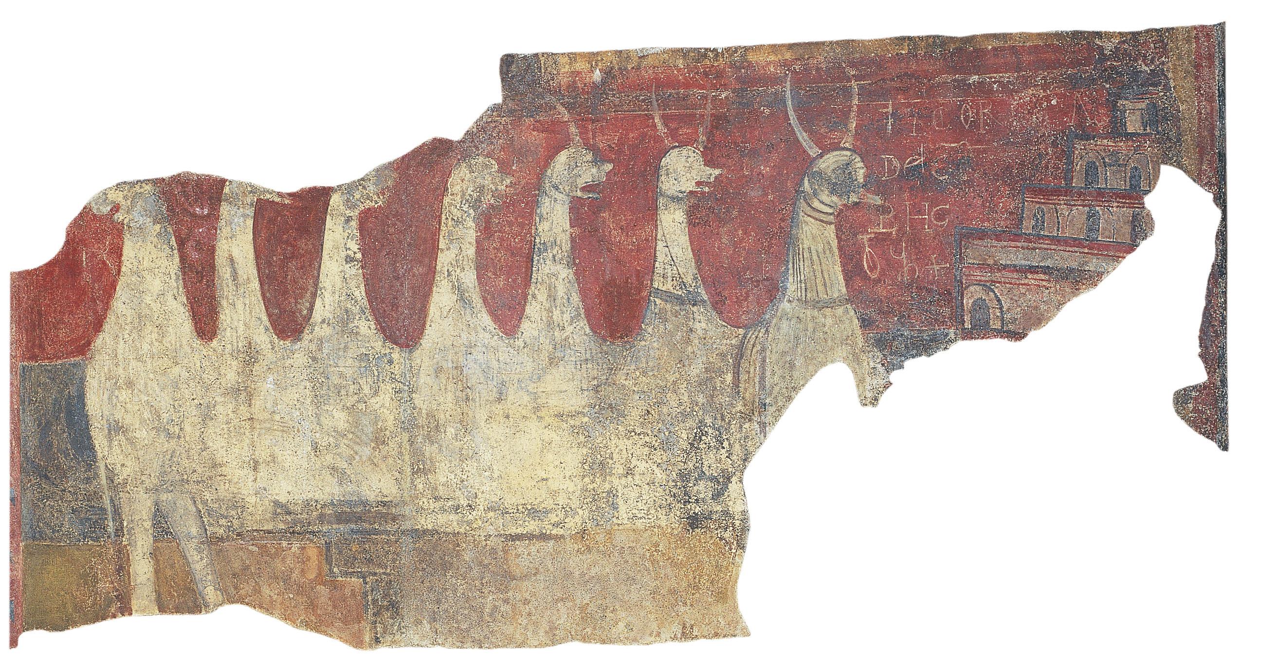 Mestre de Boí - Torre i bèstia apocalíptica de Boí - Cap a 1100 [1]