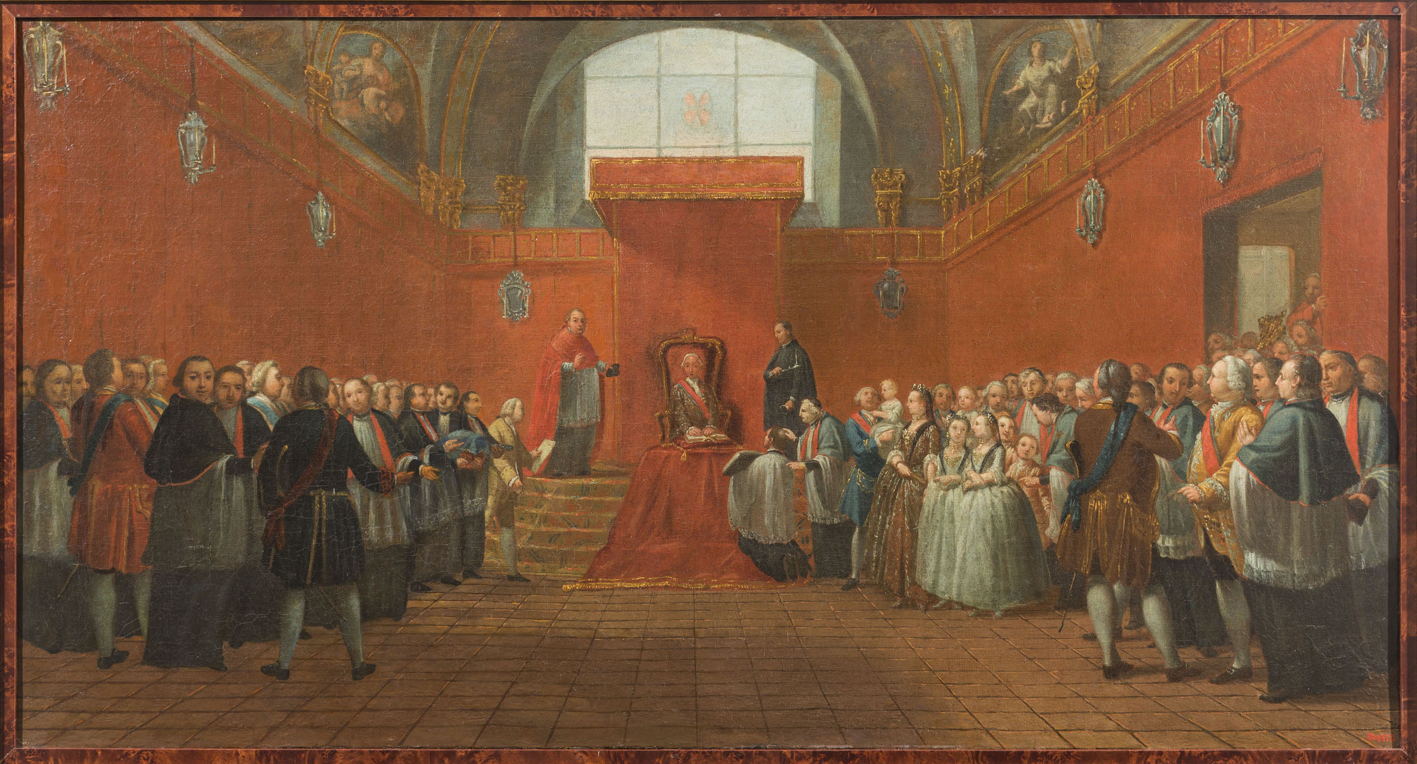 Manuel Tramulles - Charles III Taking Possession of the Canonry of Barcelona in 1759 - 1768