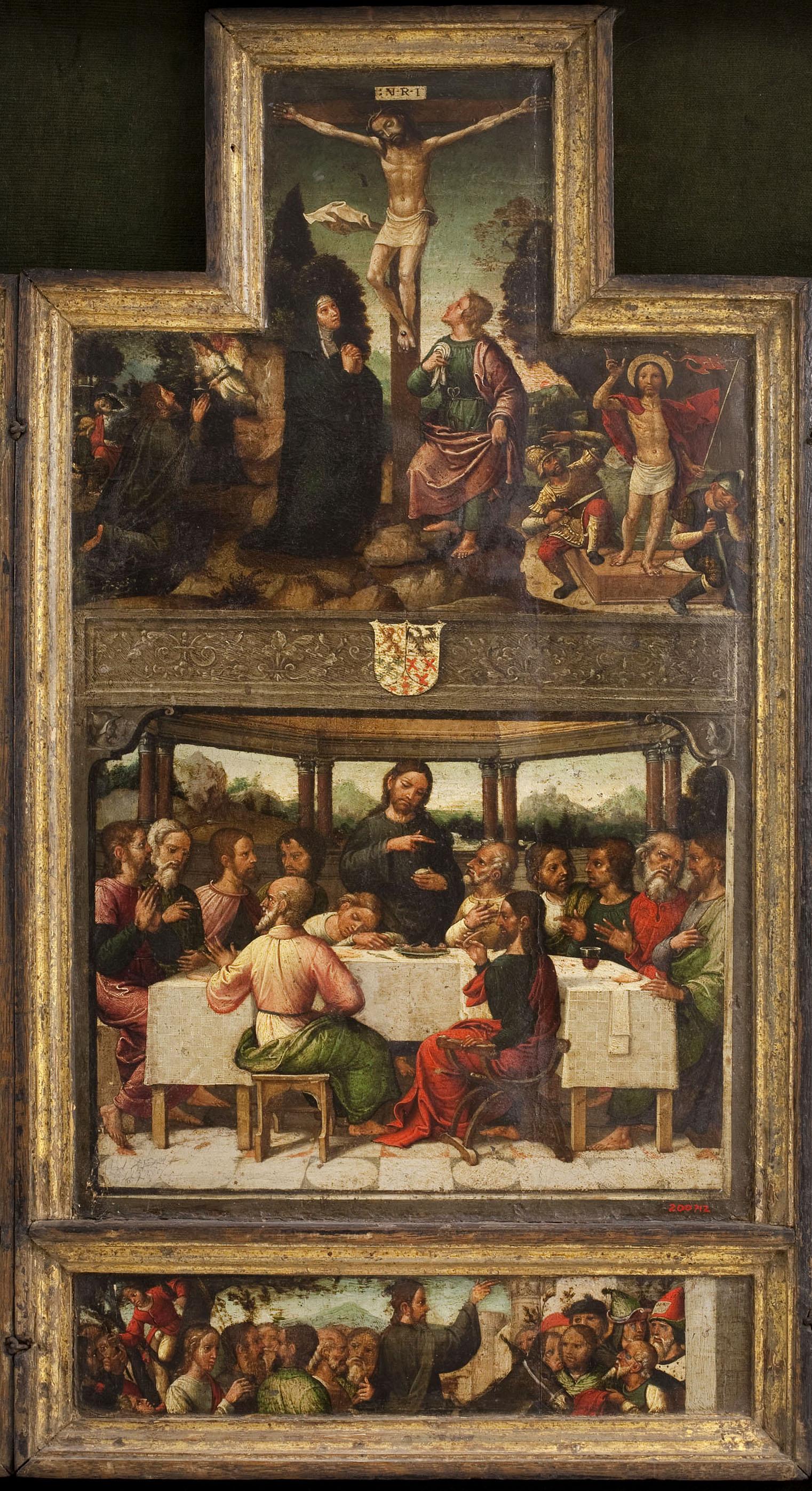 Antonio de Comontes - Crucifixió i Sant Sopar - Entre 1515-1540
