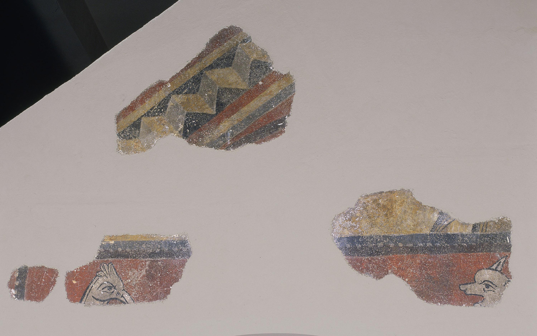 Mestre de Boí - Animals afrontats i ziga-zaga de Boí - Cap a 1100