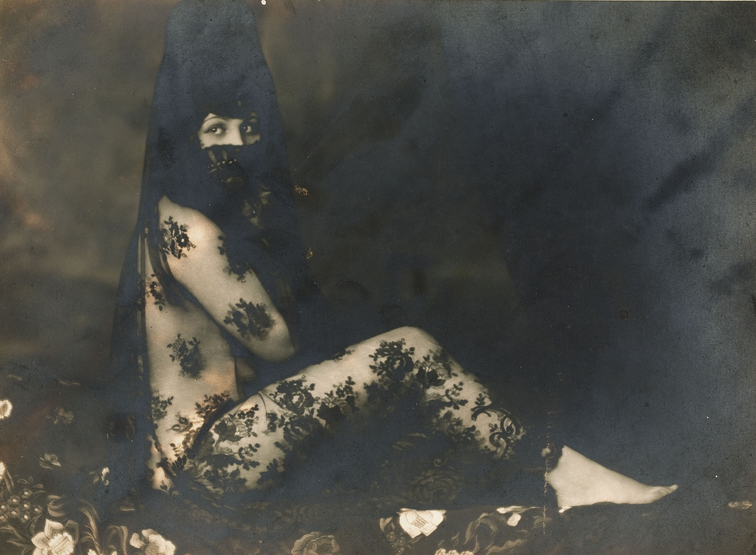 Josep Masana - Untitled [Seated Maja with Mantilla] - Between 1920-1940