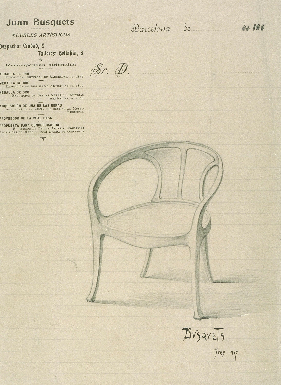 Joan Busquets - Cadira de despatx - 1907