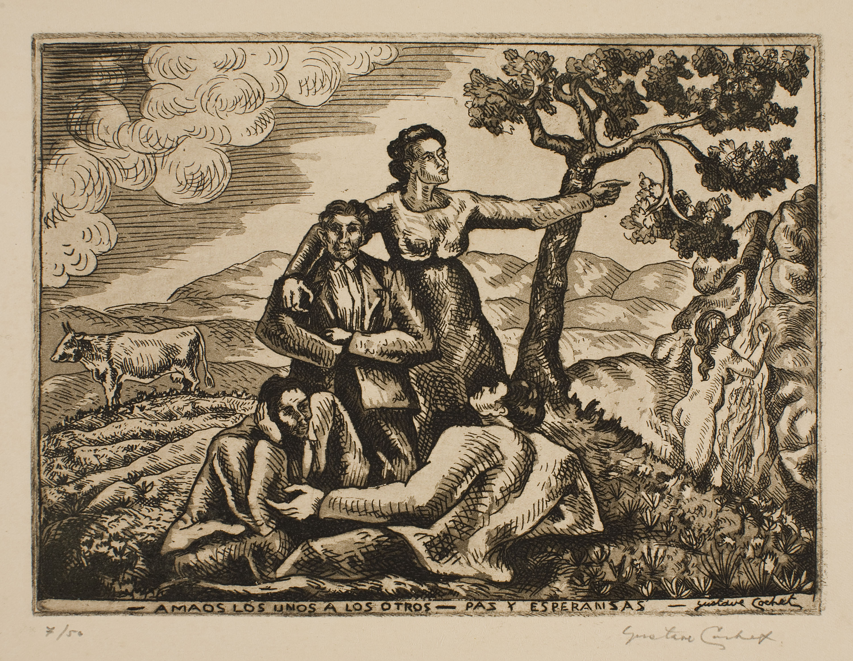 Gustavo Cochet - «Amaos los unos a los otros. Paz y esperanza» - 1936-1938