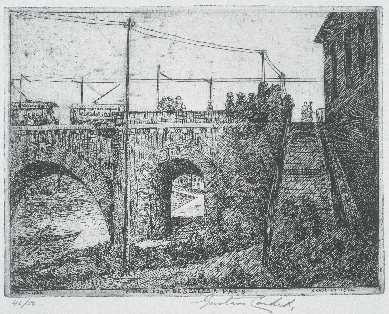 Gustavo Cochet - Le vieux pont de Sèvres à Paris - 1926-1944