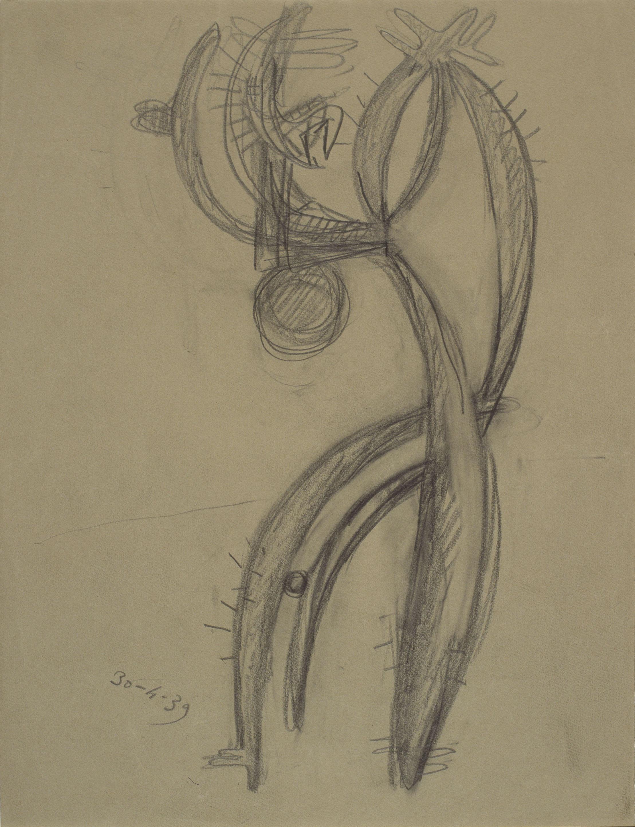 Juli González - Estudi per a l'home cactus - 1939