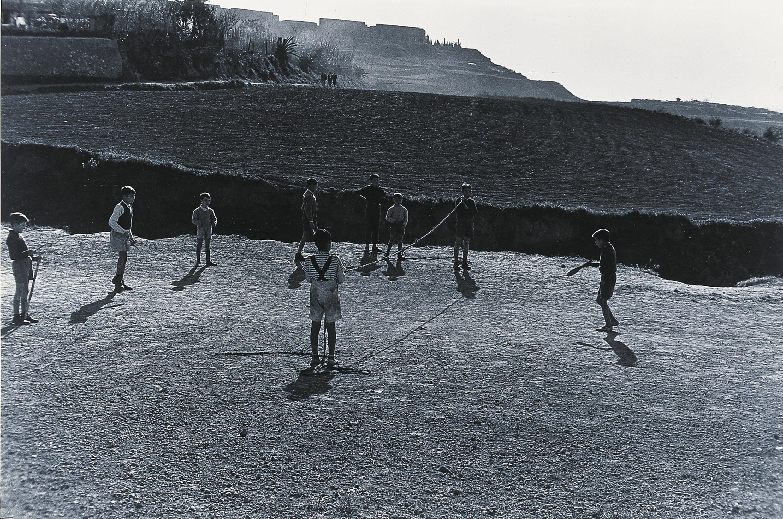 Xavier Miserachs - Tennis a l'actual Anella Olímpica - 1959