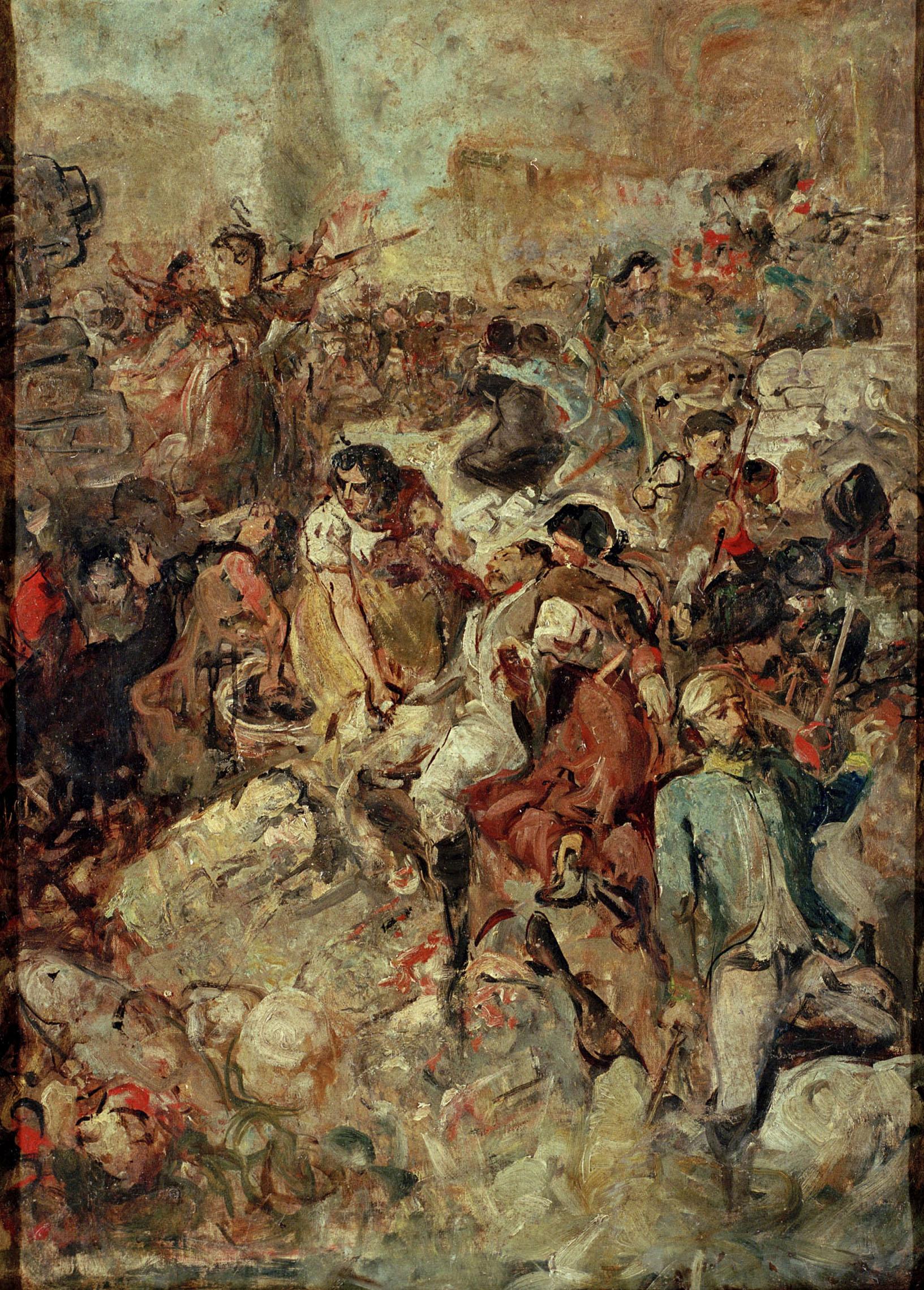 Ramon Martí i Alsina - Esbós per a ««La Companyia de Santa Bàrbara»» - Cap a 1891