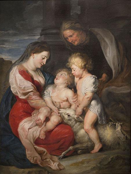 Peter Paulus Rubens - La Mare de Déu i el Nen amb santa Isabel i sant Joanet - Cap a 1618