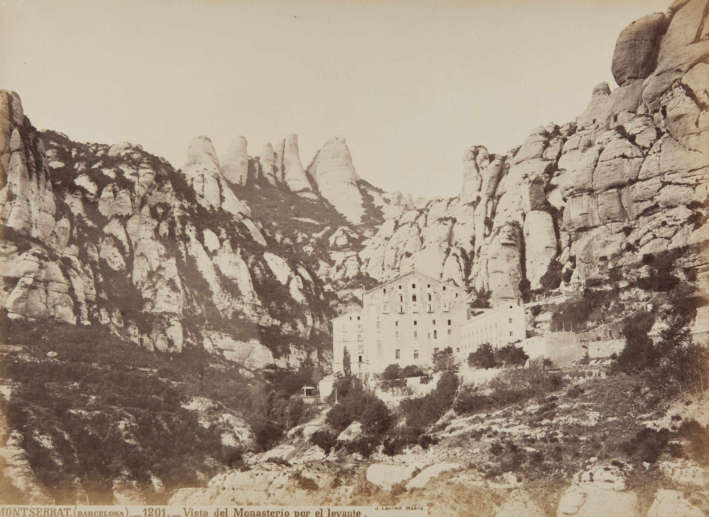 Jean Laurent - Montserrat (Barcelona). Vista del Monasterio por el levante (View of the Monastery from the East)  - Circa 1865