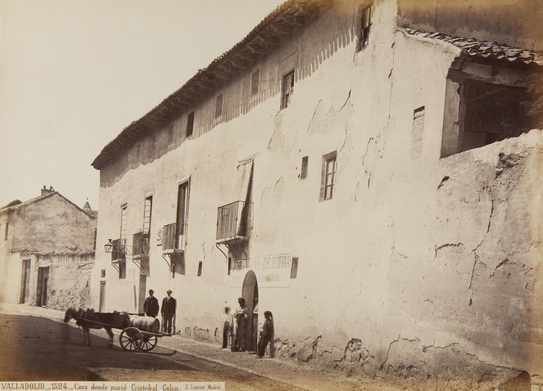 Jean Laurent - Valladolid. Casa donde murió Cristobal Colon - Circa 1865