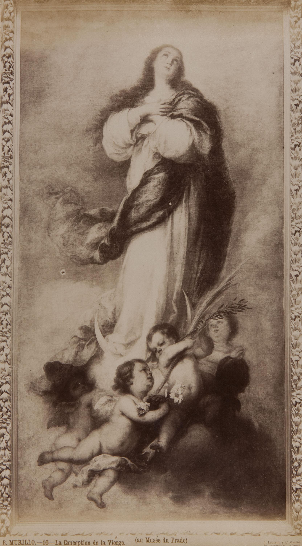Jean Laurent - B. Murillo. La conception de la Vierge (au Musée du Prado) - Circa 1865