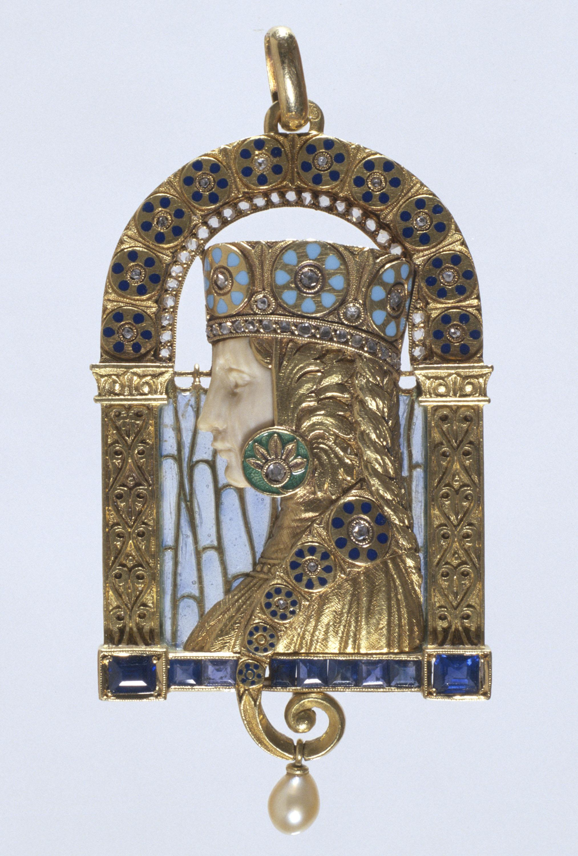 Lluís Masriera - Penjoll amb figura bizantina - Cap a 1915
