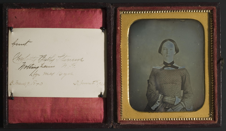 Anònim - Retrat de Charlotte Botly Sterms als 16 anys d'edat - Cap a 1856
