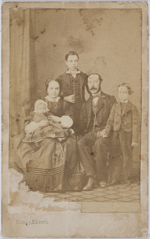 Moliné y Albareda. Barcelona - Retrat familiar - Cap a 1860