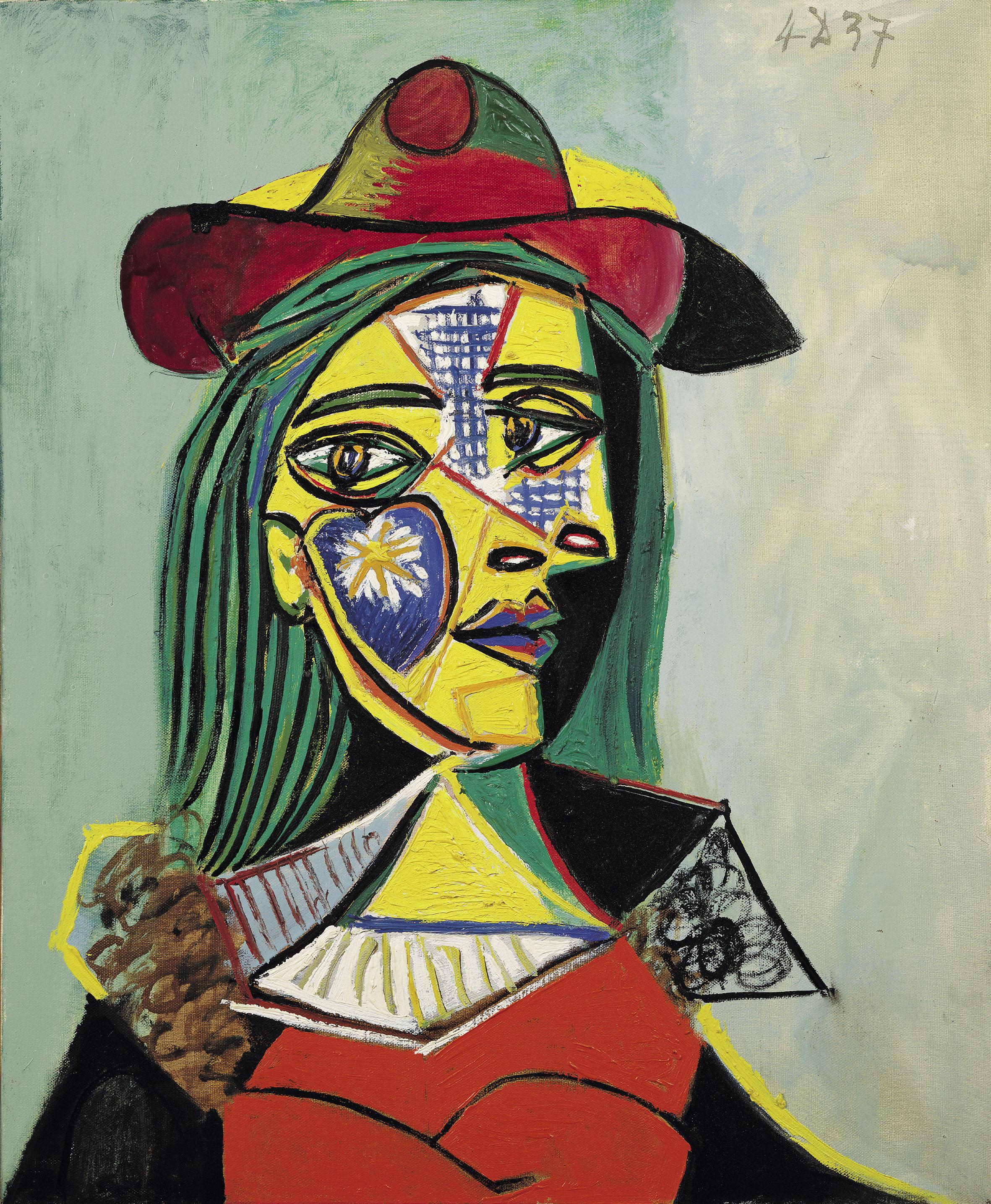 Pablo Picasso - Dona amb barret i coll de pell (Marie-Thérèse Walter) - París, 4 de desembre de 1937