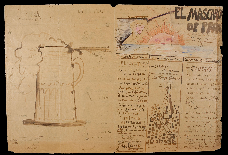 Santiago Rusiñol - El mascaró de proa. Illustrated and handwritten heading - Circa 1917