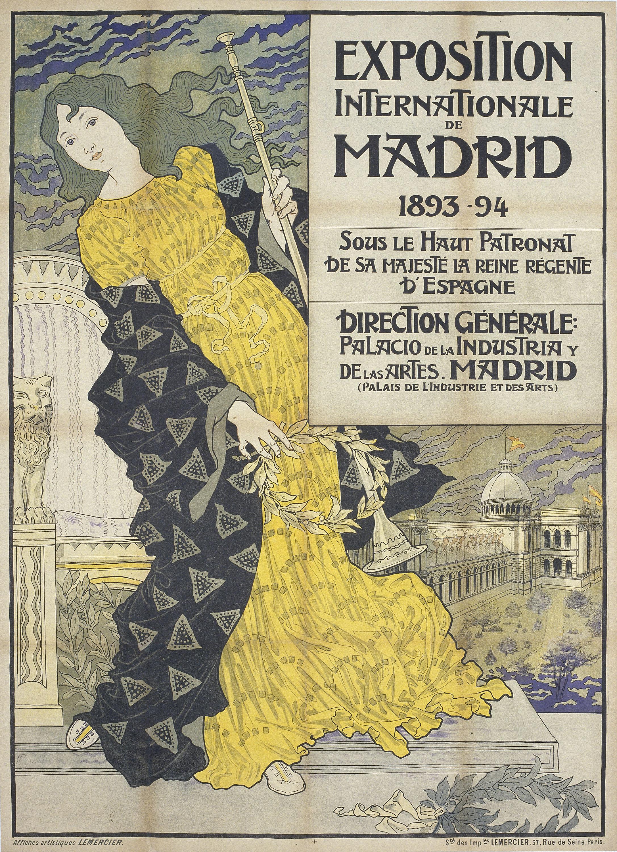 Eugène Samuel Grasset - Exposition Internationale de Madrid - 1893