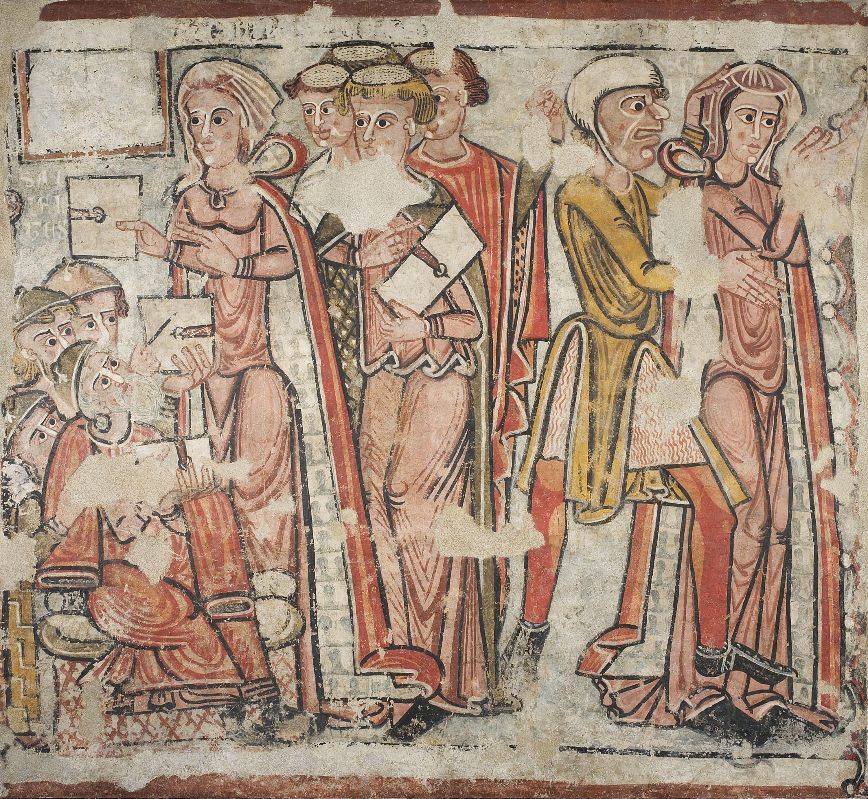 Anònim. Catalunya - Disputa i arrest de santa Caterina, de la catedral de la Seu d'Urgell - 1241-1255
