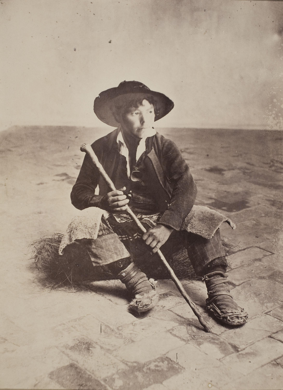 Robert Peters Napper - Andalusian Shepherd Boy (Sevilla) - Cap a 1860-1863
