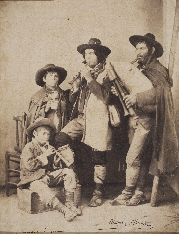 Moliné y Albareda. Barcelona - Campesinos napolitanos - Cap a 1860