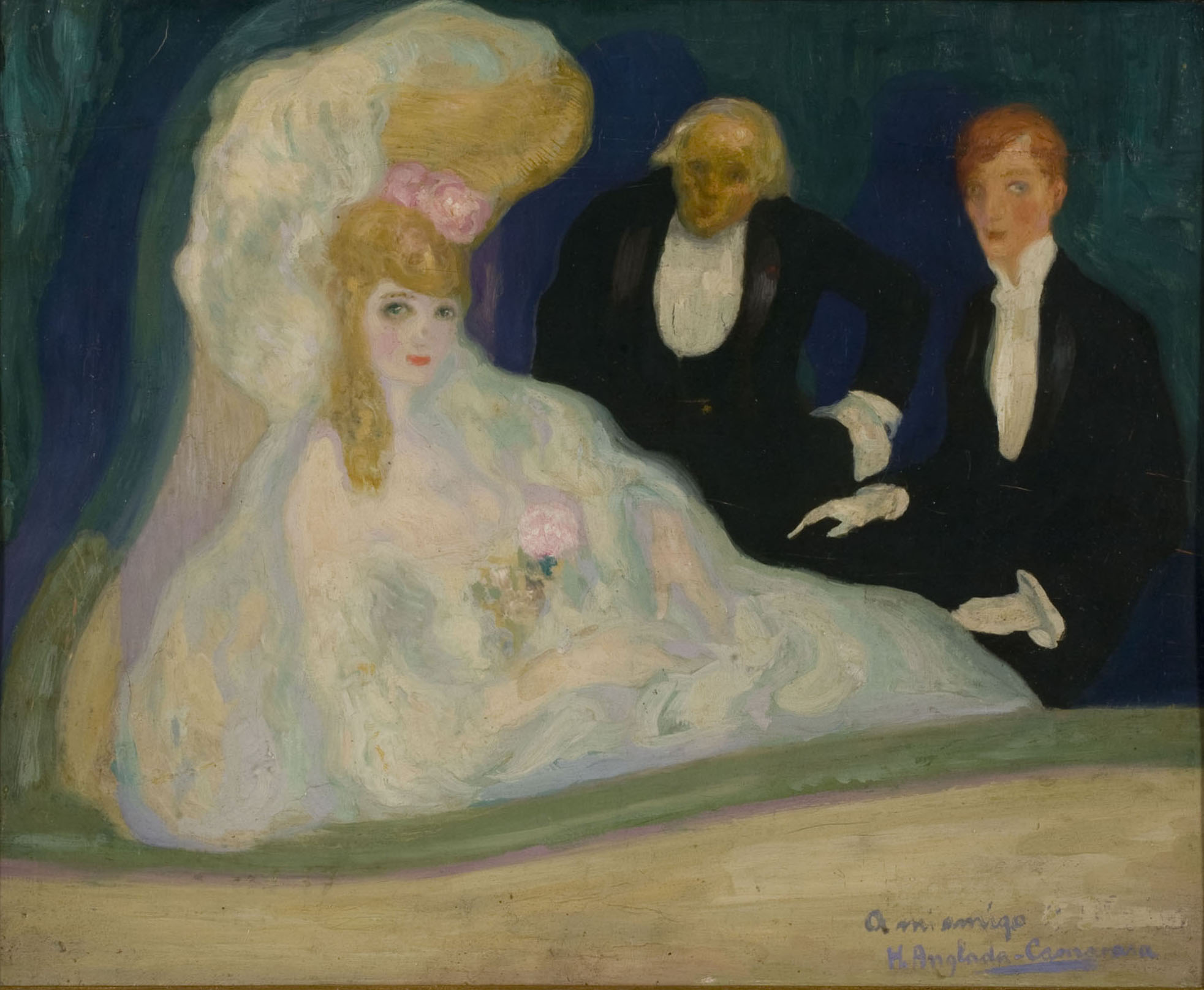 Hermen Anglada Camarasa - El palco - Hacia 1901-1902