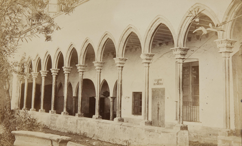 Joan Martí  - Claustros de l'antiga iglesia de Junqueras de Barcelona, ja derrocada, qu'han estat trasladats á la nova iglesia de Junqueras en reconstrucció - 1868
