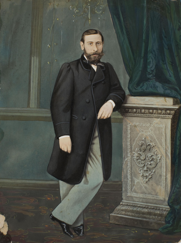 Napoleón. Establecimiento de daguerrotipo y fotografía. Barcelona - Retrat d'home - 1863