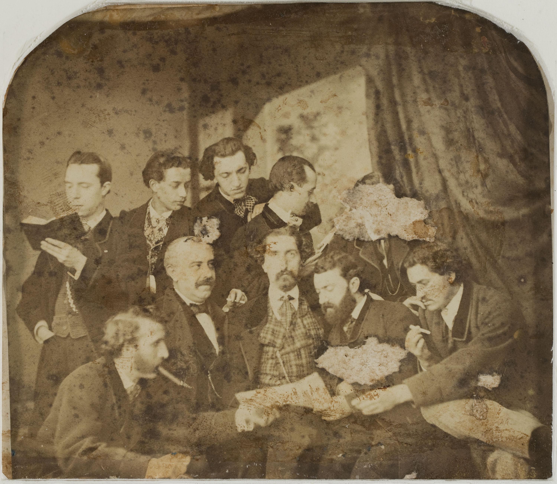 Napoleón. Establecimiento de daguerrotipo y fotografía. Barcelona - Group portrait - 1863