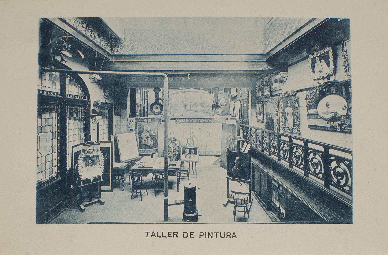Napoleón. Establecimiento de daguerrotipo y fotografía. Barcelona - Napoleón photographic studio. Paint-shop - 1895