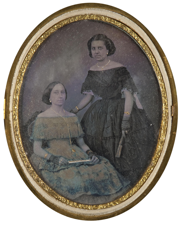 Moliné y Albareda. Barcelona - Retrat de dues dones - Cap a 1860